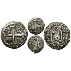 Lima, Peru, cob 8 reales Royal, 1729N, very rare, ex-Boyd.