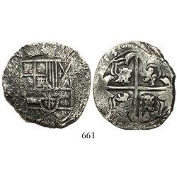 Potosi, Bolivia, cob 8 reales, (1)630(T).