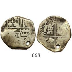 Potosi, Bolivia, cob 2 reales, (1)634(T), very rare, Plate Coin in Sellschopp.