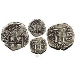 Potosi, Bolivia, cob 2 reales, 1652E transitional, McLean Type III, rare.