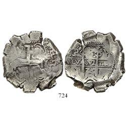 Potosi, Bolivia, cob 8 reales, 1720Y.