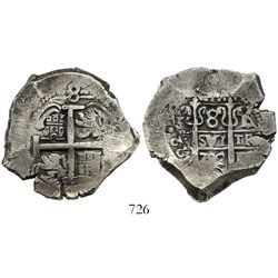 Potosi, Bolivia, cob 8 reales, 1722Y.