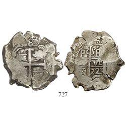 Potosi, Bolivia, cob 8 reales, 1723Y.