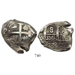 Potosi, Bolivia, cob 8 reales, 1772V-(Y).
