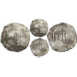 Bogota, Colombia, cob 8 reales, 1668, assayer Po.RS., very rare.