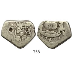 Guatemala, cob 4 reales, 1747J.