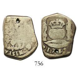 Guatemala, cob 4 reales, 1749J.