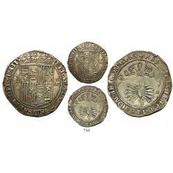 Seville, Spain, 4 reales, Ferdinand-Isabel, assayer * to right of arrows, mintmark S to left of shie
