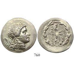Aeolis, Myrina, AR tetradrachm, ca. 155-145 BC, Stephanophoric type.