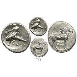 "Calabria, Tarentum, AR nomos, 333-330 BC, ""boy on dolphin."""
