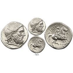 Kingdom of Macedon, AR tetradrachm, Philip II, 359-336 BC, lifetime issue, struck ca. 342-328 BC.