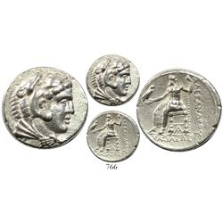 Kingdom of Macedon, AR tetradrachm, Alexander III (the Great), lifetime issue (legs of Zeus not cros