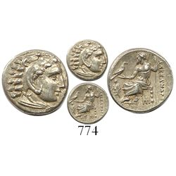 Kingdom of Macedon, AR drachm, Alexander III (the Great), 336-323 BC, Abydos mint, struck 328-323 BC