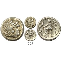 Kingdom of Macedon, AR drachm, Alexander III (the Great), 336-323 BC, Miletos mint, struck 325-323 B