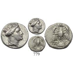 Pontos, Amisos, AR half siglos-hemidrachm, 4th century BC.