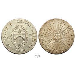 Argentina (La Rioja), 8 reales, 1836P.