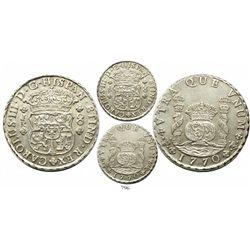 Potosi, Bolivia, pillar 8 reales, Charles III, 1770JR.