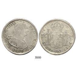 Potosi, Bolivia, bust 4 reales, Charles IV, 1800PP.