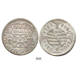 Brazil (Bahia mint), 640 reis, Pedro II, 1698.