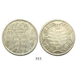 Brazil (Bahia mint), 600 reis, Jose I, 1756-B.