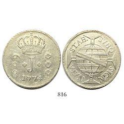 Brazil (Rio mint), 600 reis, Jose I, 1774-R.