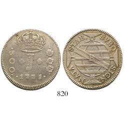 Brazil (Rio mint), 300 reis, Jose I, 1771-R.