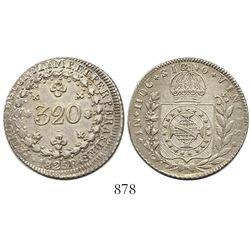Brazil (Rio mint), 320 reis, Pedro I, 1825-R.