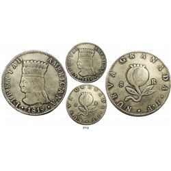 "Bogota, Colombia, 8 reales, 1819JF, ""LIBERTAD AMERICANA."""