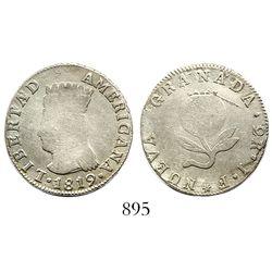 "Bogota, Colombia, 2 reales, 1819JF, ""LIBERTAD AMERICANA."""