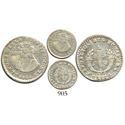 Quito, Ecuador, 1 real, 1838ST.