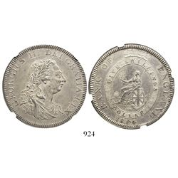 Great Britain (Bank of England), 5-shilling / 1-dollar bank token, George III, 1804, encapsulated NG