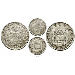 Guatemala, pillar 8 reales, Charles III, 1765P, new-style 5, very rare.