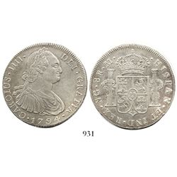 Guatemala, bust 8 reales, Charles IV, 1796M.