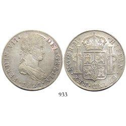 Guatemala, bust 8 reales, Ferdinand VII, 1821M.