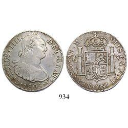 Guatemala, bust 4 reales, Charles IV, 1805M.