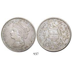 Guatemala, 1 peso, 1882A.E.