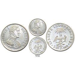 Haiti (Empire), silver pattern 1 gourde, 1853, rare.