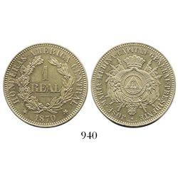 Honduras, copper-nickel pattern 1 real, 1870, Medina.
