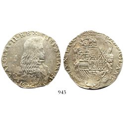 Milan, Italy (under Spain), 1 filippo, Charles II, 1676.