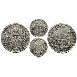 Mexico City, Mexico, pillar 8 reales, Philip V, 1733F, mintmark M.X, very rare, from the 1733 Fleet.