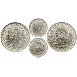 Mexico City, Mexico, pillar 8 reales, Ferdinand VI, 1748MF, encapsulated NGC MS 61.