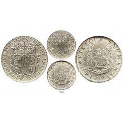 Mexico City, Mexico, pillar 8 reales, Ferdinand VI, 1751MF, encapsulated NGC MS 61.