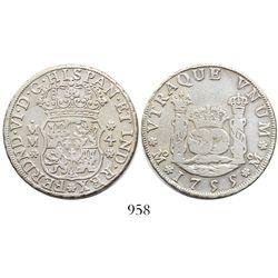 Mexico City, Mexico, pillar 4 reales, Ferdinand VI, 1755MM.