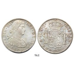 "Mexico City, Mexico, bust 8 reales, Ferdinand VII (""armored bust""), 1809TH."