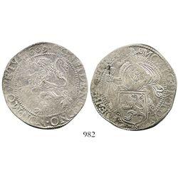 """Utrecht, United Netherlands, """"lion"""" daalder, 1609."""