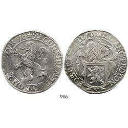 """Gelderland, United Netherlands, """"lion"""" daalder, 1652."""