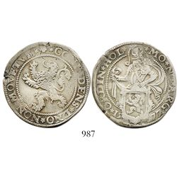 "Holland, United Netherlands, 1/2 ""lion"" daalder, 1577."