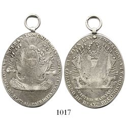 Buenos Aires, Argentina, oval silver medal with loop (military award), Battle of Arroyo Cayasta unde