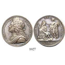Great Britain, silver medal, George II, 1727, coronation.