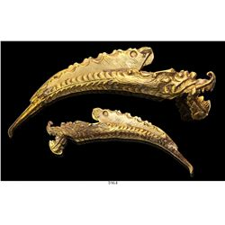 Gold  dragon whistle  (captain-general's badge of office), extremely rare and important.
